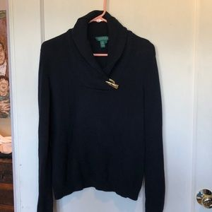 Ralph Lauren Navy toggle closure sweater